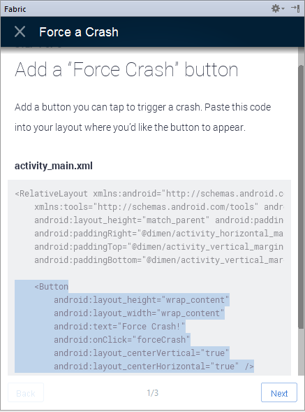crashlytics exception2